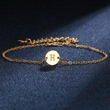 新ファッション女性のゴールドカラーの手紙ブレスレットシンプルな調(China)