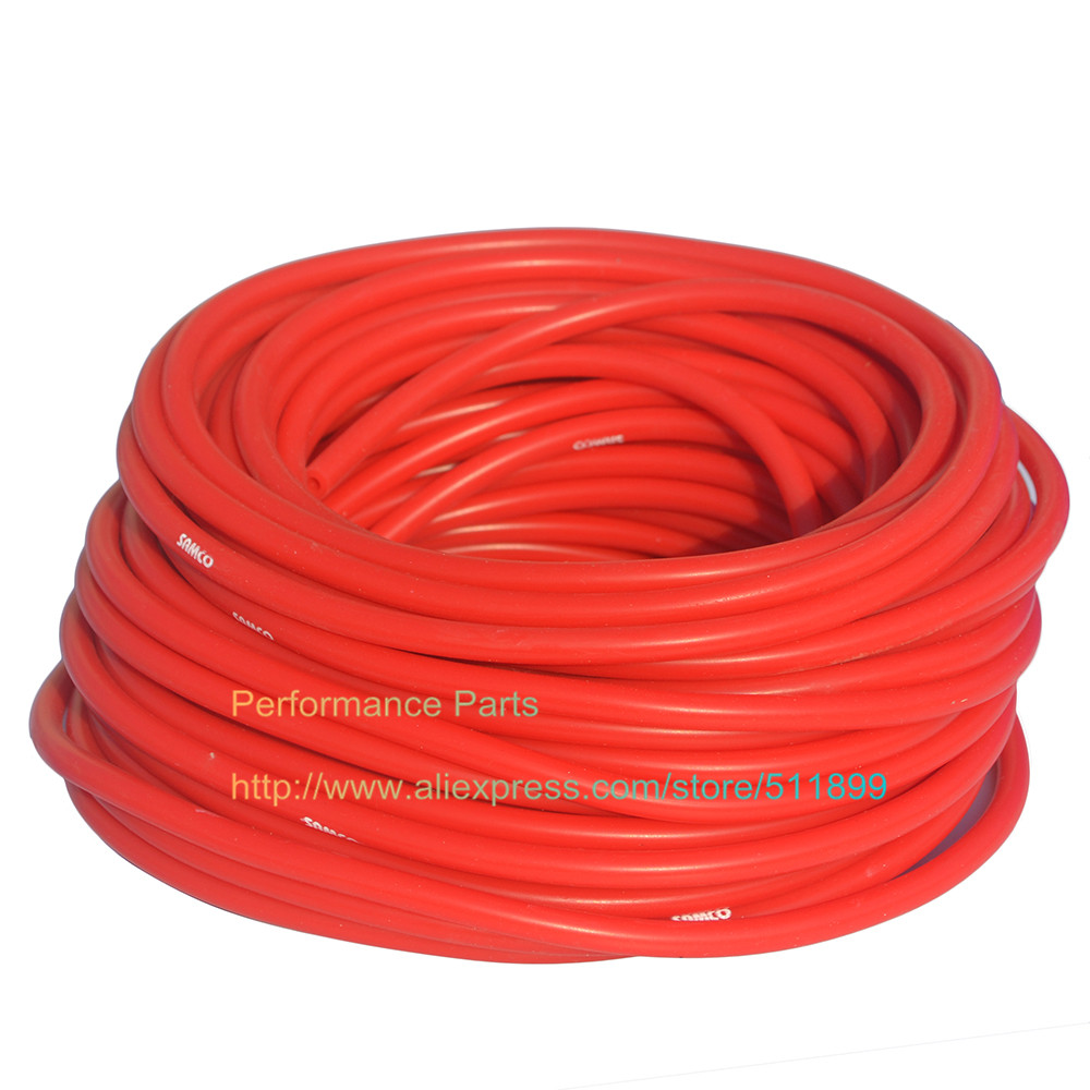 Red Color 12mm Vacuum Silicone Hose Universal Silicone Tubing (Length: one meter )(China (Mainland))