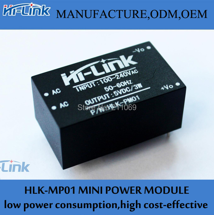 220v 5v ac - DC isolated power supply module, smart home HLK-PM01, switching step-down module HI-Link(HK store Co.,Ltd)
