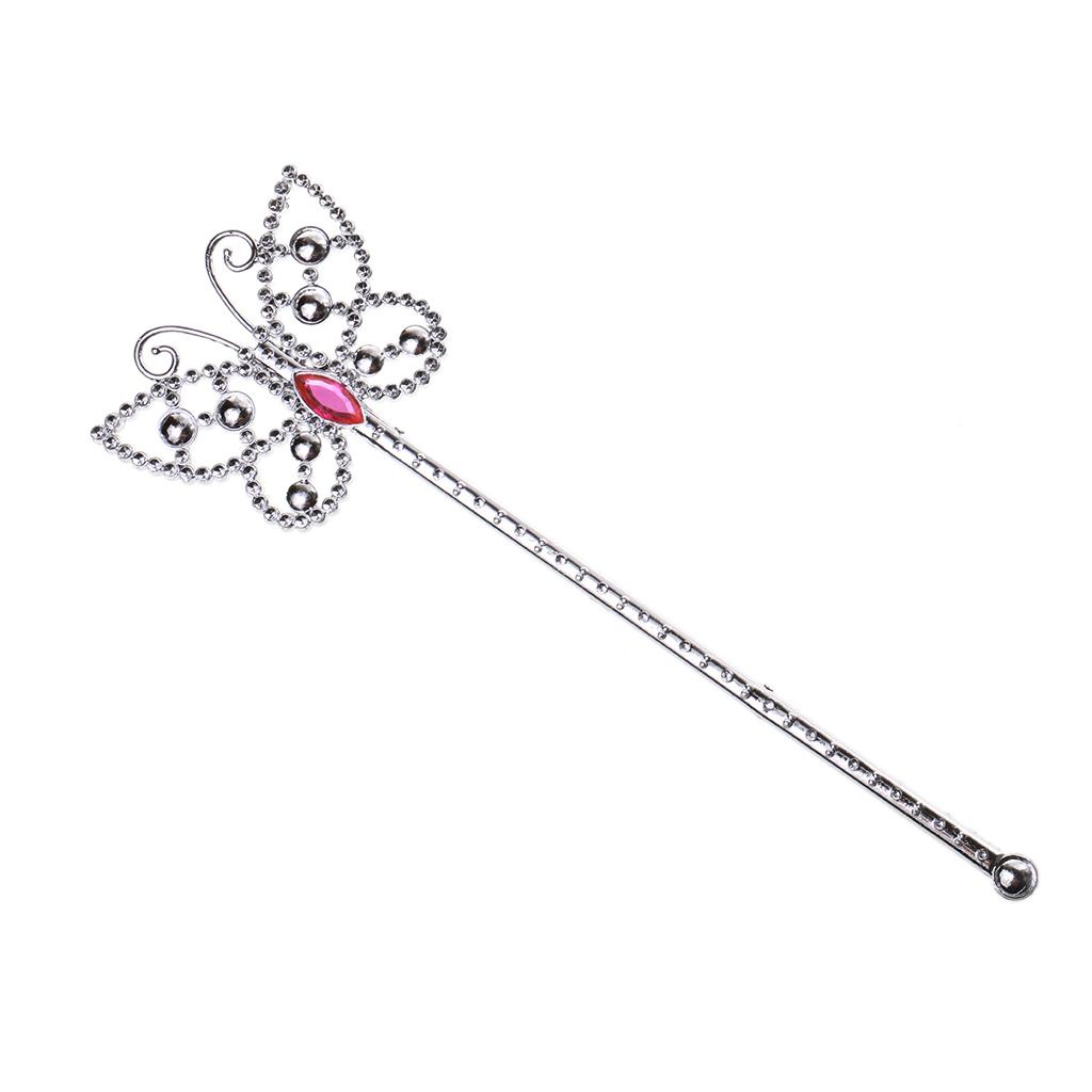 White Glitter Fairy Angel Plastic Fancy Dress Princess Wand Party Accessory 24 X 8 Cm