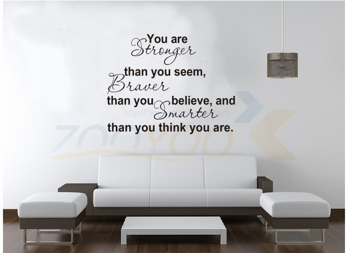You are stronger creative home decoration wall sticker decorativeadesivo appointment of parede removable vinyl wall sticker
