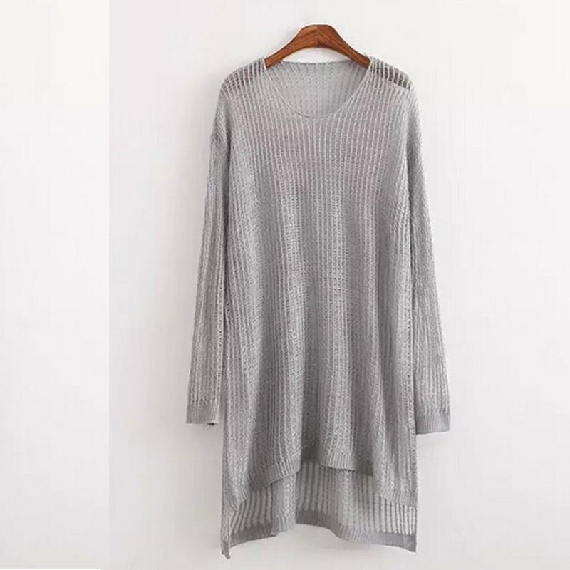 Batwing Jumper Knitting Pattern Free : Women Asymmetric Hem Oversized Batwing Knit Sweater Loose Jumper Pullover Top...