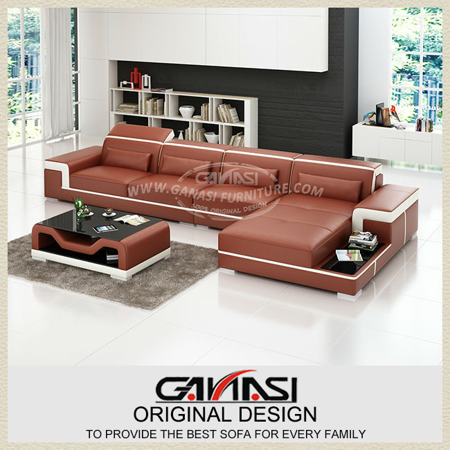 2014 Hot Sale Modern big white U-shaped genuine leather round Corner Sofa Best living room sofa(China (Mainland))