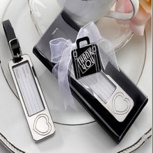 100pcs/Lot+Elegant Chrome Luggage Tag Heart Love Baggage Tags Travel Wedding Favors&Bridal Shower Favors and Gift +FREE SHIPPING(China (Mainland))