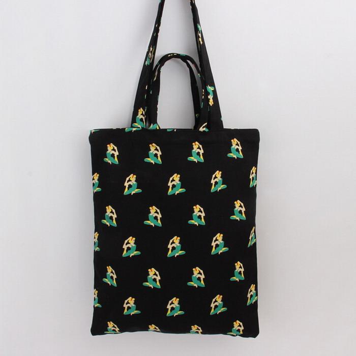 Fresh Lady 2016 Shopper bag Candy Fashion Cartoon Printing Women Cotton Shoulder Tote Handbags Mujer Bolsa Summer Top-Handle Bag(China (Mainland))
