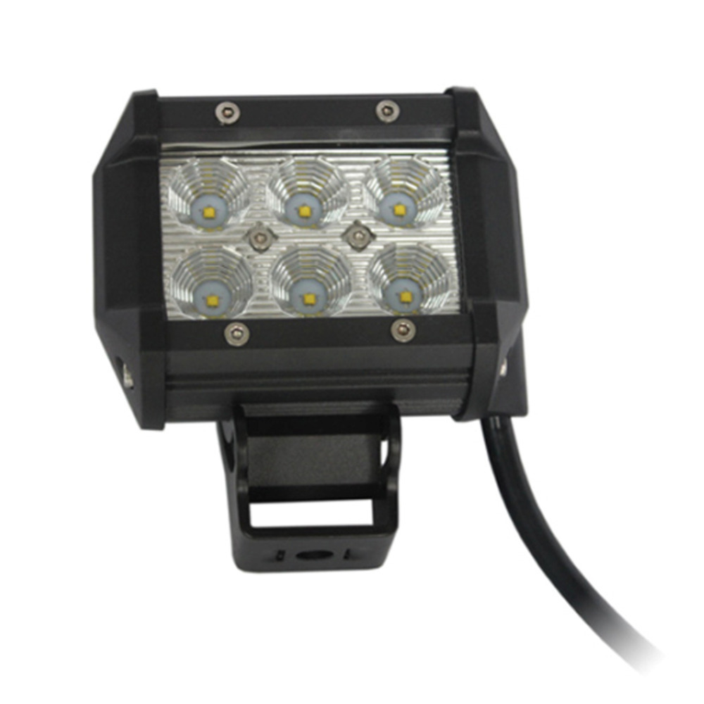 Hot Selling 10-30V DC 4 Inch PC Lens 18W LED Square Car Working Lamp Floodlight Good Quality CLSK(China (Mainland))