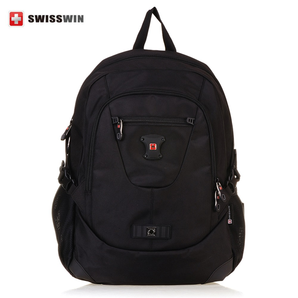 SWISSWIN Brand Men Laptop Backpack Mochila Masculina 14 Inch Nylon Outdoor Travel  Sports Backpacks Men's Luggage & Travel Bags