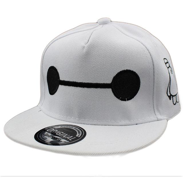 Мода Мальчик Бейсболки Для 3-8 Лет Дети Милые Baymax Дизайн Шапки Snapback Высокого ...