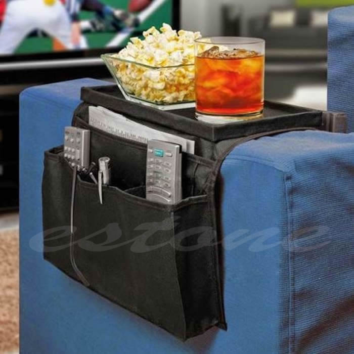 Sofa Arm Rest Chair Settee Couch Remote Control Table Top Holder Organiser Tray(China (Mainland))