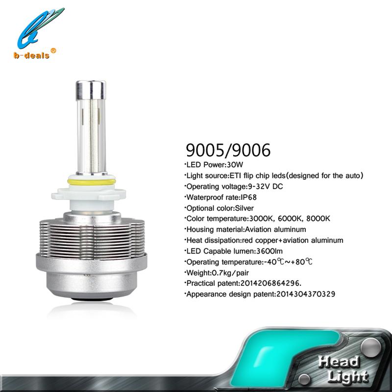 Play plug 3600 lumen 30W 9005 HB3 9006 HB4 Car LED Headlight Kit Light Conversion Lamp Bulbs - iCARS I store