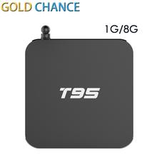T95 Android 5.1 Unidades top Box Kodi 16.0 Kodi S905 Mali-450 GPU Memoria 1G 8G Wifi IPTV Libre gratis