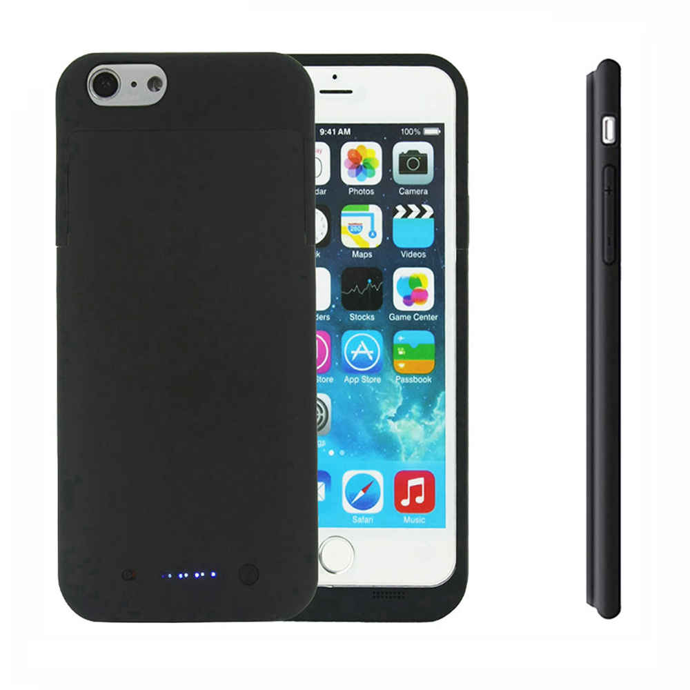 Rechargeable Backup External Battery Charger Case Power Bank Pack Shockproof Protective Case Cover for iPhone 6 6s 6/6s Plus(China (Mainland))
