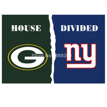 Buy Green Bay Packers vs New York Giants House Divided Rivalry Flag 90x150cm 100D polyester 40142 for $4.76 in AliExpress store