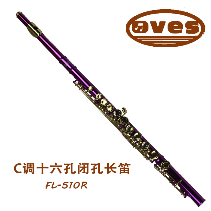 Metal Purple Flute Playing Flute C Key FL-510R Flauta Detachable Oves Gold Plated Chinese Folk Instrument(China (Mainland))