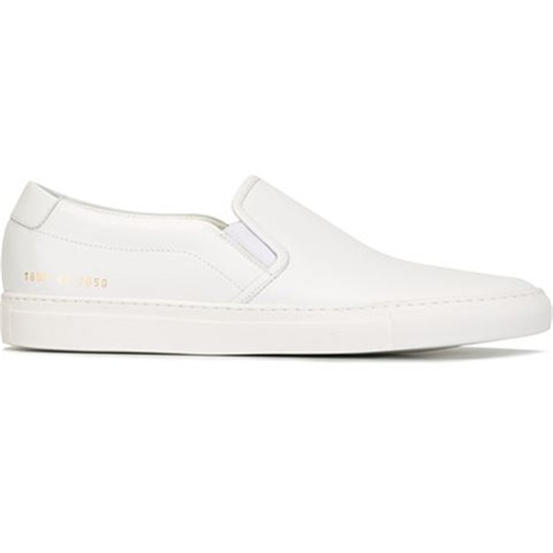 Фотография Top Brand Shoes Men Common Projects Women Spring Breathable White Genuine Leather Sheepskin Casual Shoes Scarpa Blanche Calzado
