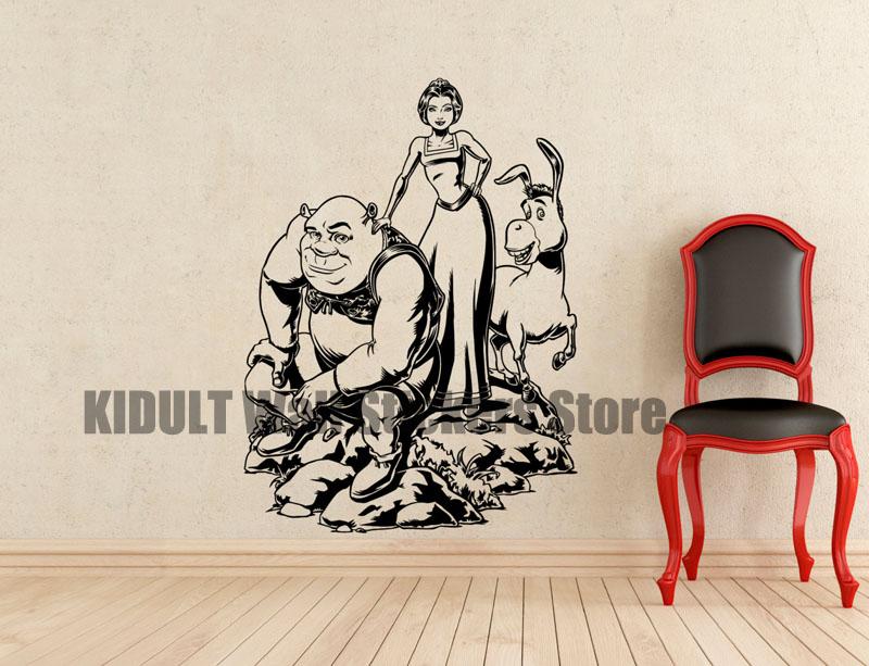 shrek wandtattoos beurteilungen online einkaufen shrek. Black Bedroom Furniture Sets. Home Design Ideas