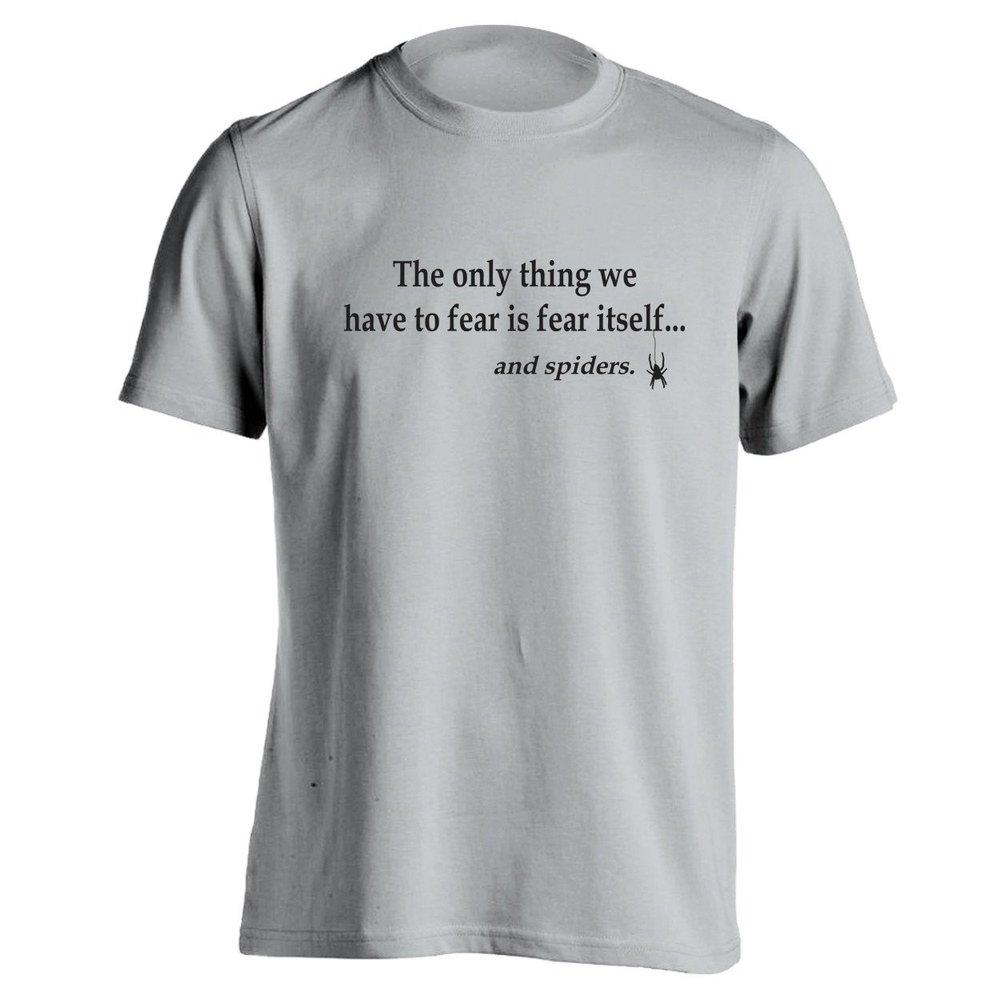 fear spiders mens unisex t shirts custom t shirt design