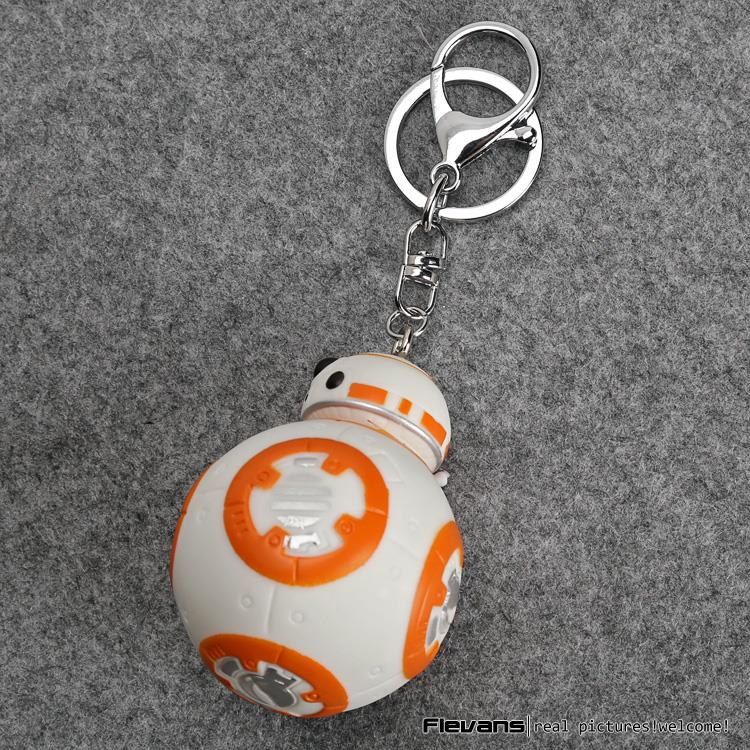 Star Wars 7 The Force Awakens BB8 BB-8 Droid Robot PVC Figures Toys with Keychain Pendant SWFG095(China (Mainland))