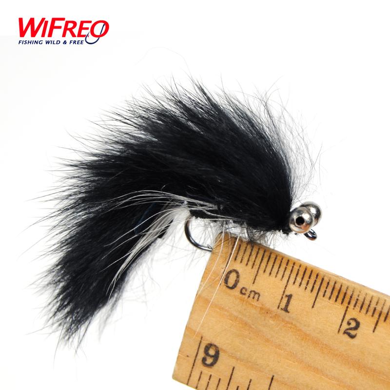 [10 PCS] #6 White Belly Black Zonker Streamer Fly Baitfish Imitator Trout Fishing Flies<br><br>Aliexpress
