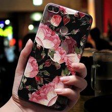 שחור עלה מקרה עבור Xio mi שיאו mi mi a2 לייט Pocophone F1 מקרה אדום mi 4X 4A הערה 7 פרו מקרה אדום mi הערה 5 הערה 6 פרו מקרי כיסוי(China)