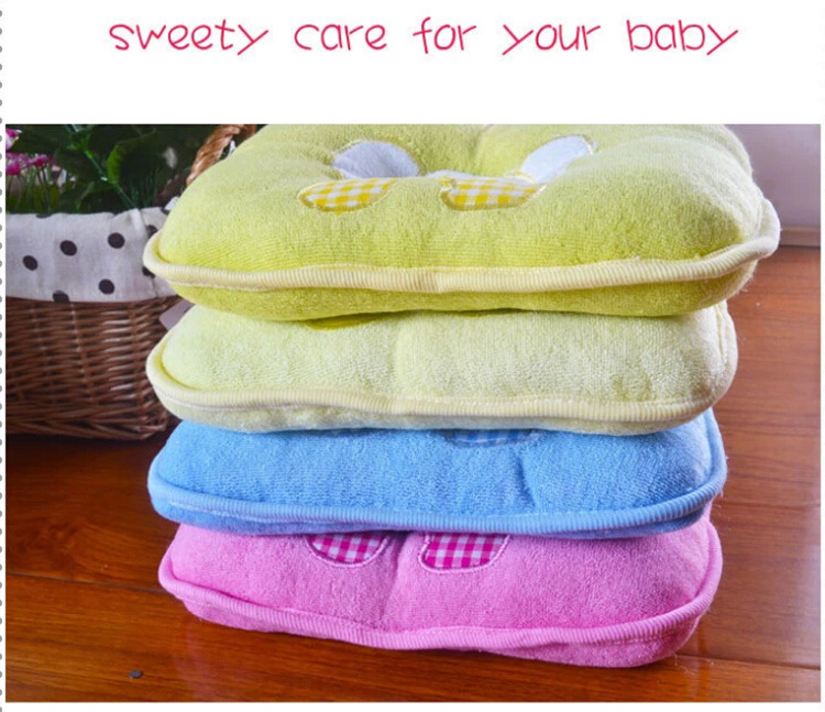 Soft Baby Pillow Infant Toddler Lovely Bedding baby elephant Cotton Baby Shaping Pillow baby product Special free shipping(China (Mainland))