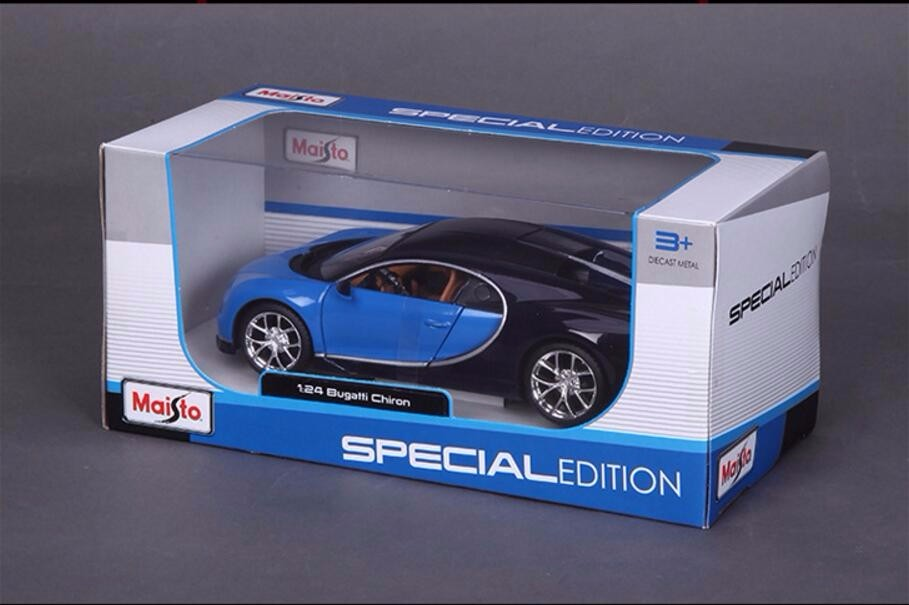 Maisto1:24 Scale Diecast Automotive Mannequin Bugatti Chiron Particular Version Car Mannequin Children Automotive Toys New 12 months Assortment Present