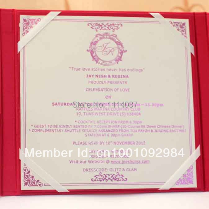 Card wedding invitation picture more detailed picture for Handmade wedding invitations for sale