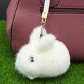 100 Real Genuine mink Fur Keychain Pendant Bag Car fur Charm Tag Cute Mini Rabbit Toy