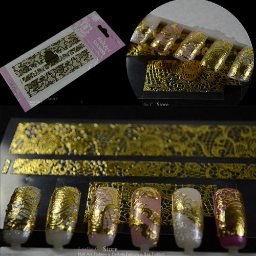 1 Sheet Beauty Adhesive Foil Wraps Nail Stickers Decals For Nails DIY 3D Nail Art Decoration Tips Manicure Tools #NC055(China (Mainland))