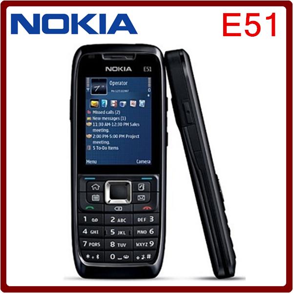 Unlocked Original Nokia E51 WIFI Bluetooth JAVA Refurbished Mobile Phone Support Russian Arabic keyboard Free Shipping(China (Mainland))