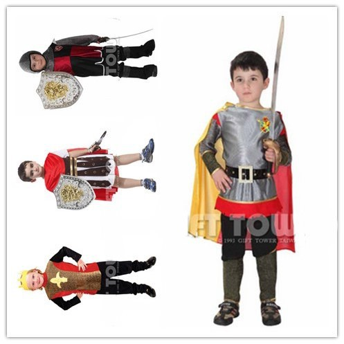 free shipping the Roman knight cosplay costumes for boys/halloween cosplay costumes for kids/children cosplay costumes Nine-pcs
