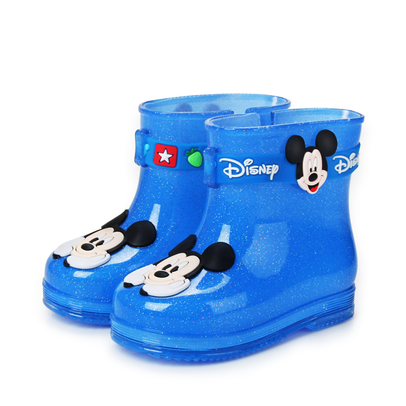 2016 New Arrival 1 to 3 Year-old Children Lovely Cartoon Anti-Skid Toddler Shoes Bright Color Rain Boots Boys Girls Ankle Boots(China (Mainland))