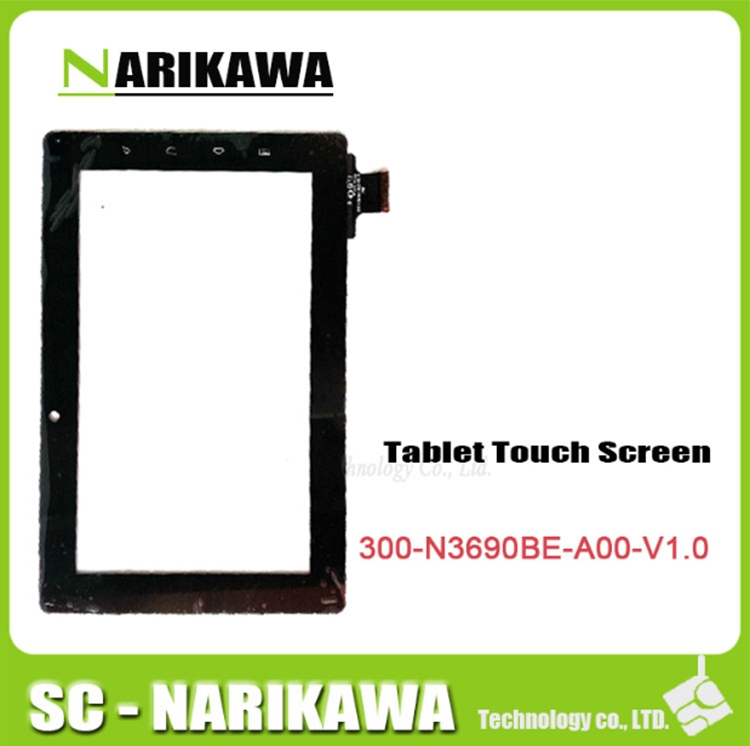 Free shipping touch screen digitizer glass touch panel for Freelander PD10 PD20 tablet pc code 300-N3690B-A00-V1.0(China (Mainland))