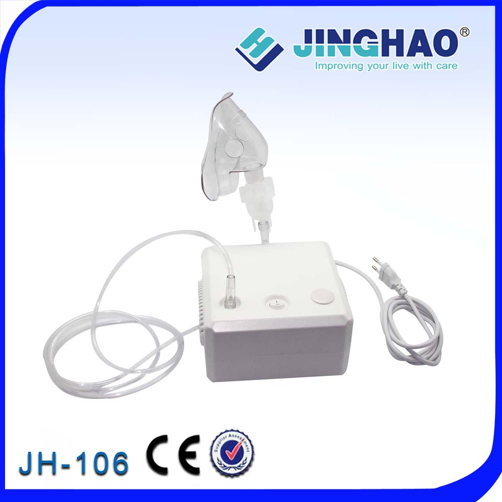 PVC Material Piston Compressor Mini Nebulizer Low Noise Steady Atomization Medication Inhaler Adult/Child Mask Cheap JH-106(China (Mainland))