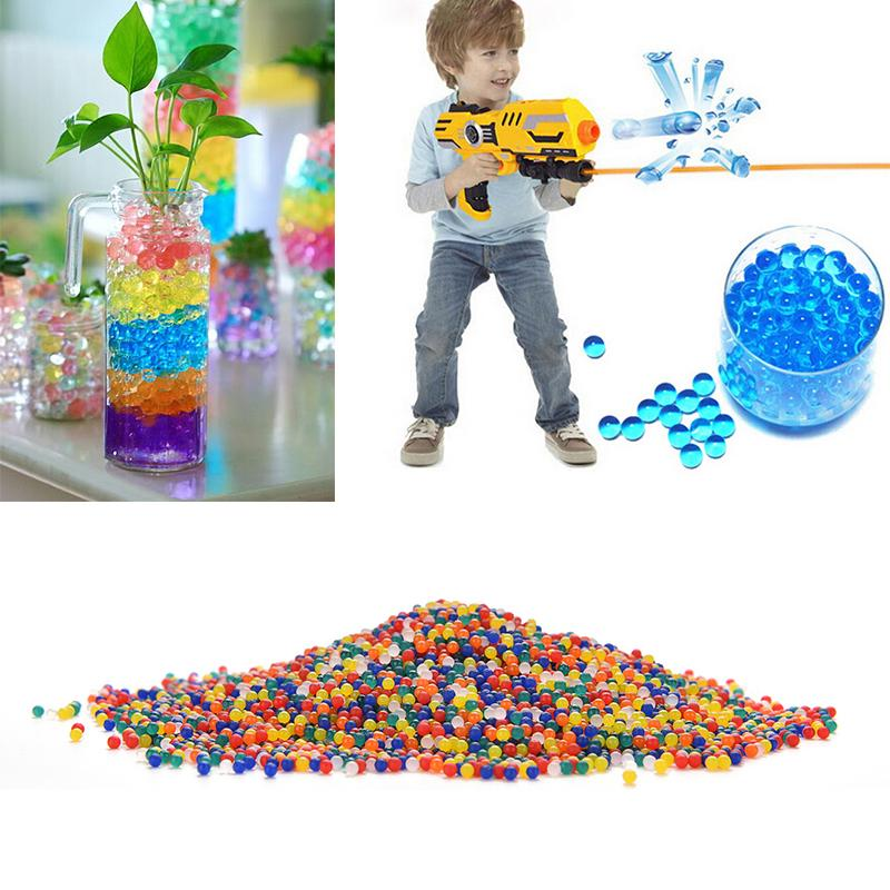 10000Pcs/Bag Pearl Shaped Crystal Soil Water Beads Mud Grow Magic Jelly Balls Home Decor Aqua Soil Wholesales(China (Mainland))