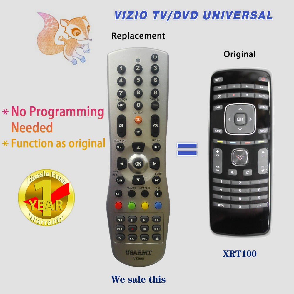 USARMT Brand genuine XRT100 remote control for VIZIO LCD TV Universal Remote Controller Free Shipping(China (Mainland))