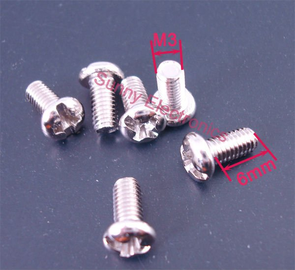 Гаджет  100 pcs M3 Screw M3x6 Diameter 3mm Length 6mm Stainless Steel DIY Brand New None Аппаратные средства