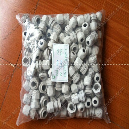 PG9 Nylon cable gland,M16 with washer,100pcs/bag,cable accessories