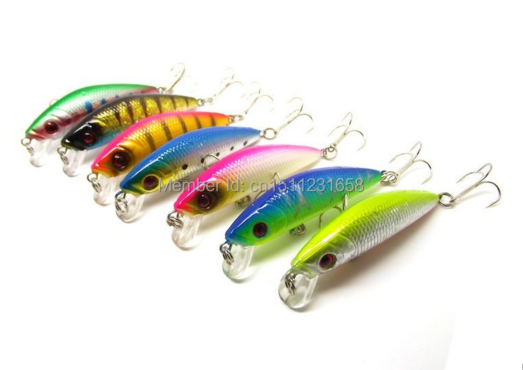 Discount 70mm Minnow Wobbler Fishing Lures With Sharp