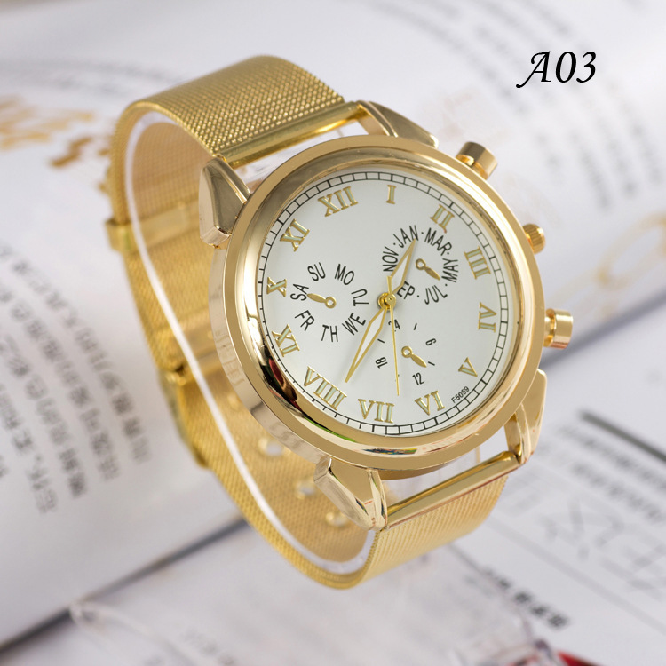 free shipping 2014 new arrival gold quartz
