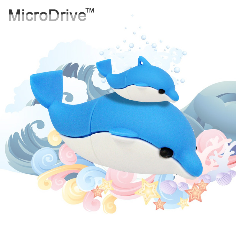Hot Sale!! USB Flash Drive 4G 8G 16G 32G 64G USB Stick Dolphins Cute Model Promotion Price Surprise Gift USB Memory Stick(China (Mainland))