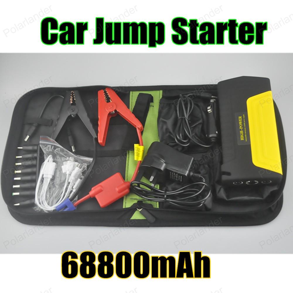 Multi-function hot sell Car jump starter car booster Emergency Car jump starter 68800 mAh power bank Auto Start Jumper(China (Mainland))