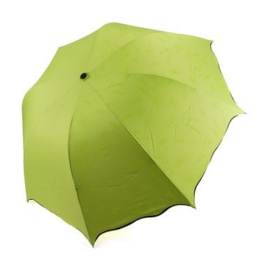Magic/uv protection umbrella becomes take the sun umbrella under the influence of water (green)(China (Mainland))