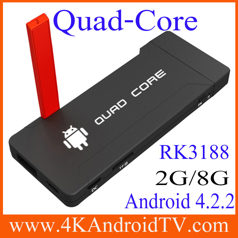 Full hd RK3188 Android Smart 4.2.2 tv box Quad core1GB/2GB/8GB Best media player manufacturer lowest price free shipping(China (Mainland))