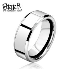 Silver Color Stainless Steel Men's 2016 Fashion Man Ring Cool Man's High Polished Man's Wedding Ring BR-R006(China (Mainland))