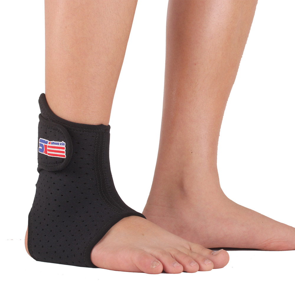 Adjustable 1 PCS Sports Elastic Ankle Support Brace Wrap Pad Foot Protection Football Basketball Sports Safety Ankle Brace(China (Mainland))