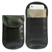 2Pcs New Mobile Cell Phone RF Signal Blocker Anti-Radiation Shield Case Bag Pouch Black #51024(China (Mainland))