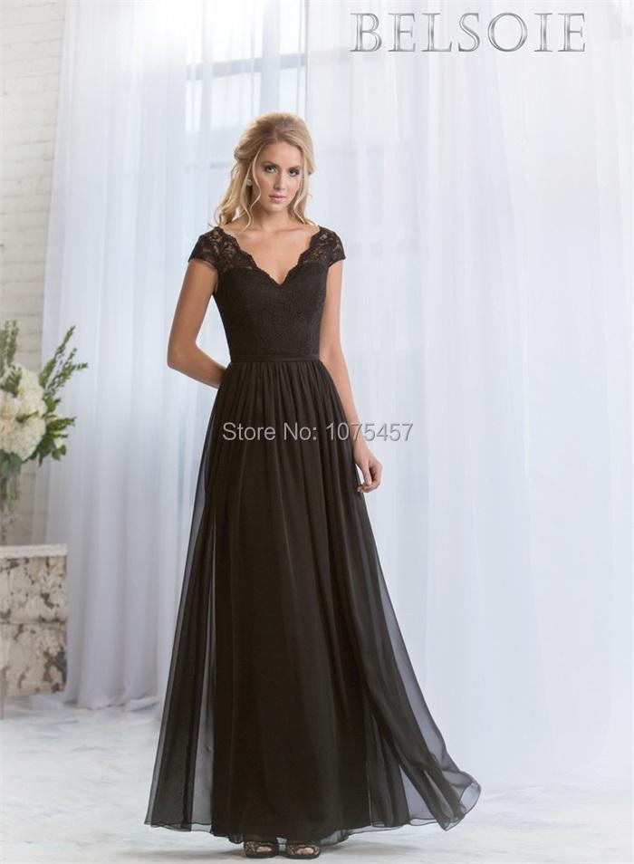 Modest Black Bridesmaid Dresses - Ocodea.com