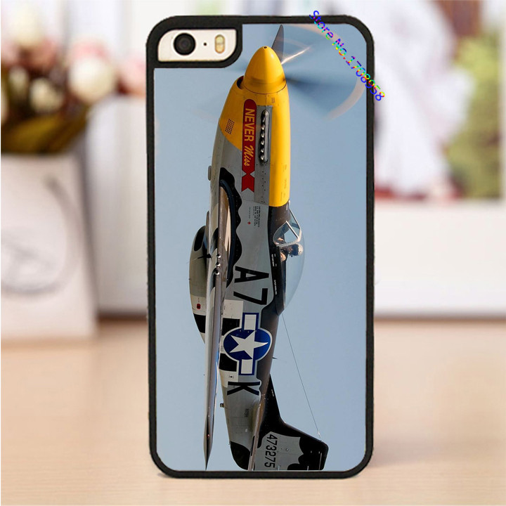 aaircraft warbird p 51 mustang phone cover case for iphone 4 4s 5 5s 5c SE 6 6s & 6 plus 6s plus &TO996(China (Mainland))
