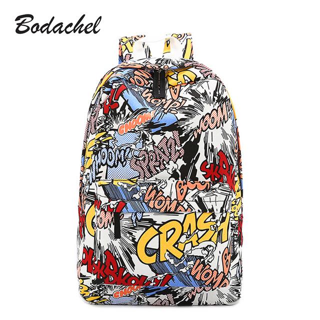 Высокое качество мода harajuku граффити рюкзак backbag хип-хоп сумка студенты рюкзак ...